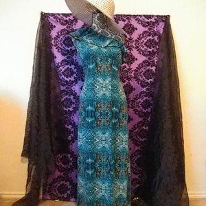 Maxi turquoise dress sleeveless size S